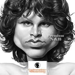 Caricature d'après photo - Standard Noir & Blanc